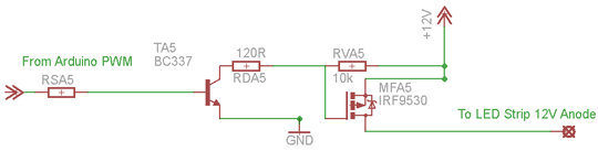 Extract of the schematic for one pin.